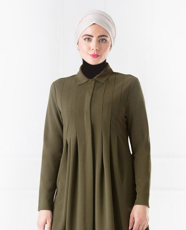 Hariet Khaki Shirt Dress