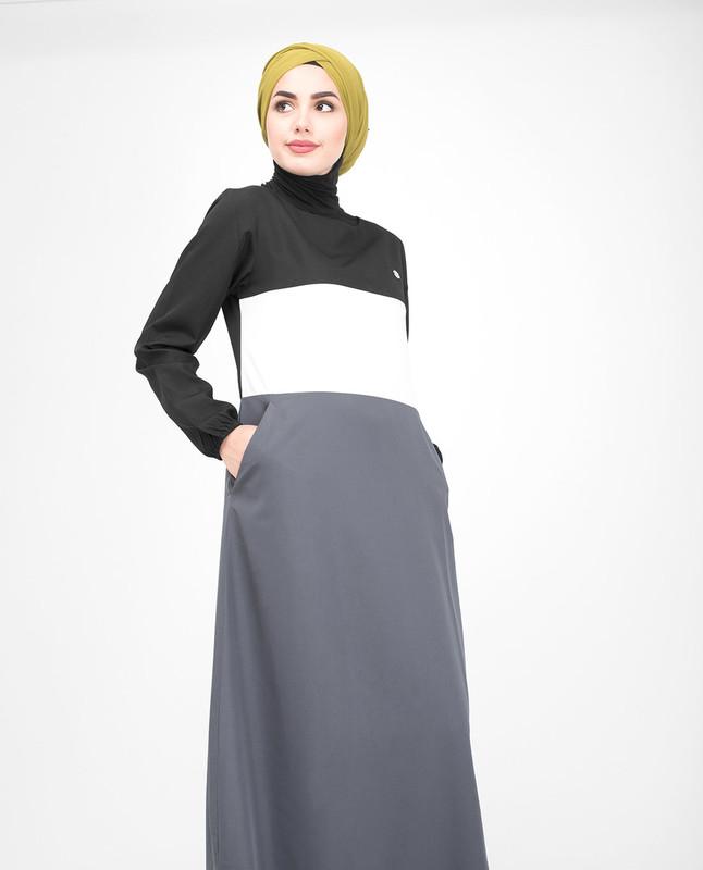 Classic Colour Block Jilbab