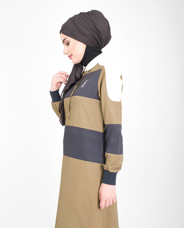 Brown Polo Jilbab