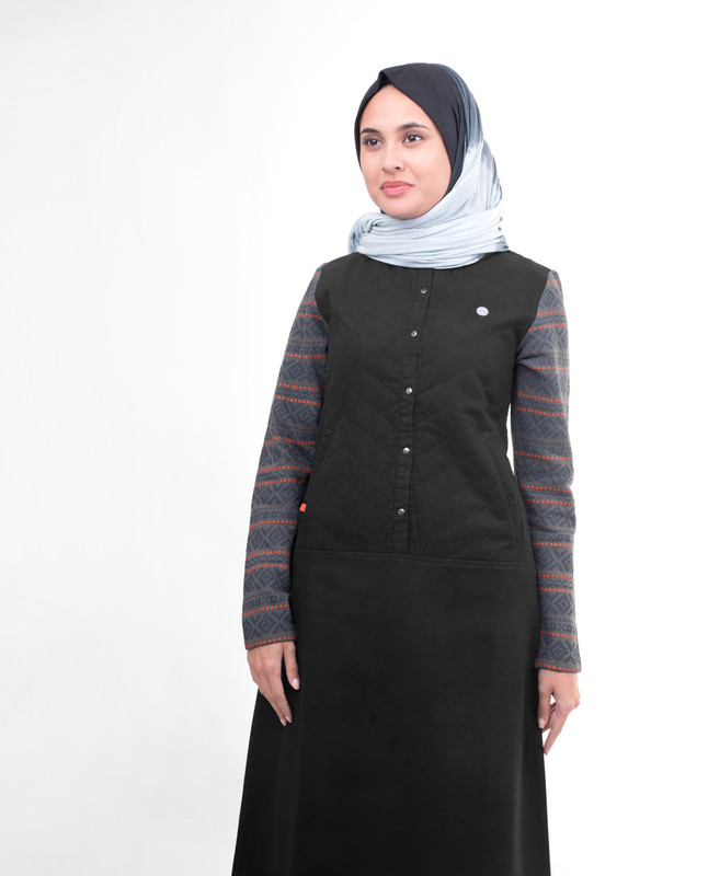 Black Quilted Winter Jilbab
