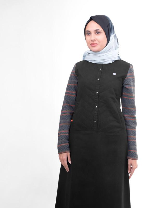 Black Quilted Jilbab
