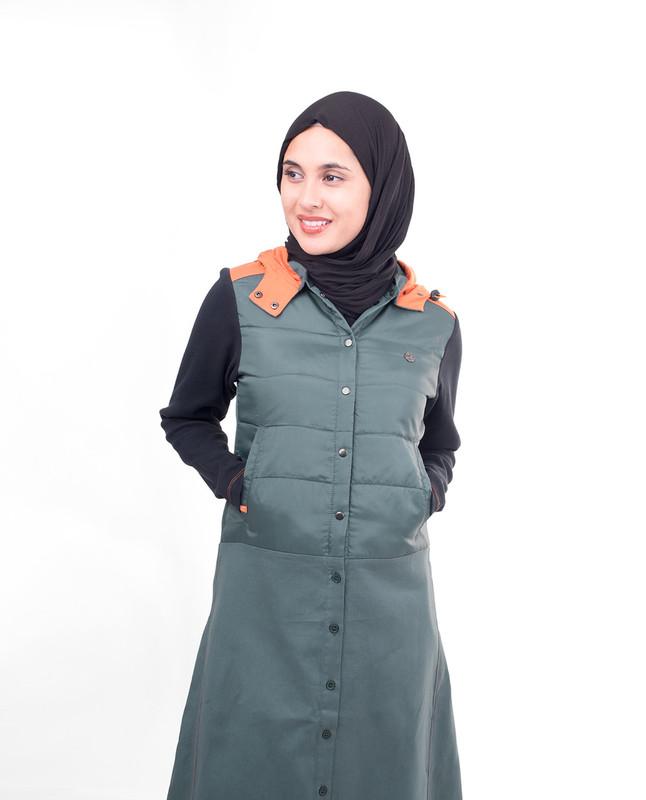 Front Open Winter Hooded Jilbab
