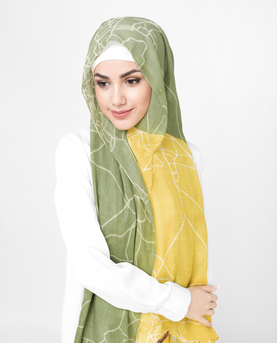 Yellow Mustard Cotton Voil Hijab