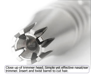 Simply insert and twist barrel to cut hair with Platinum XL by Groom Mate