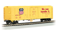 Bachmann Silver Series HO Scale Model Trains Union Pacific 50' Steel Sided Refrigerator Car