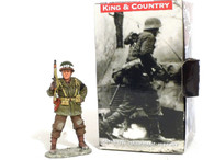 King & Country BBA024 Military Policeman Standing With Rifle World War II Toy Soldiers