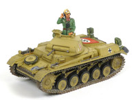 King & Country AK030 WWII German Army Panzer II Tank Africa Corps Retired