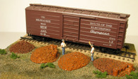 Monroe Models HO Scale Railroad Tie Plate Piles