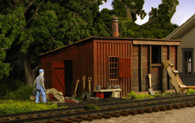 Monroe Models HO Scale Pump House And Coal Shed Model Railroad Kit