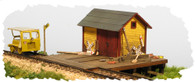 Monroe Models HO Scale Speeder Shed Model Railroad Kit