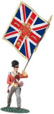 W Britain 36100 British 92nd Gordon Highlander Ensign King's Colour Advancing No 1