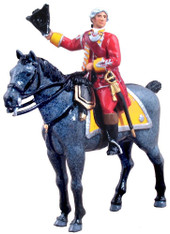 W Britains British 35th Regiment of Foot Officer Mounted Toy Soldier