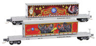 Micro-Trains Line Z Scale Ringling Brothers & Barnum Bailey Flat Cars With Containers 2-Pack
