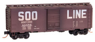 Micro-Trains Line N Scale Soo Line Weathered Box Car