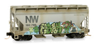 Micro-Trains Line N Scale Norfolk & Western St. Patrick's Graffiti Hopper