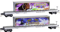 Micro-Trains Line Z Scale Ringling Brothers & Barnum Bailey Flat Cars With Legends Containers 2-Pack