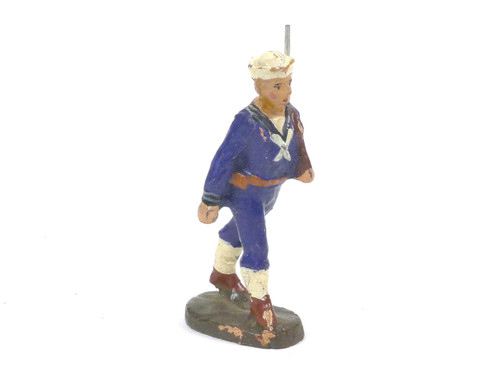 Elastolin Naval Sailor Marching German Composition Toy Soldier