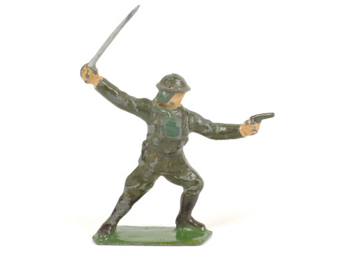 Britains British Infantry Officer with Gas Mask Sword and Pistol