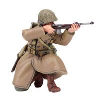 W Britain 25041 U S 101st Airborne Infantry Kneeling Firing Carbine
