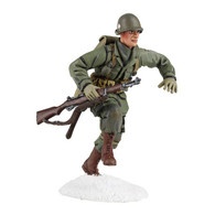W Britain 25045 U S 101st Airborne Infantry Running with M-1