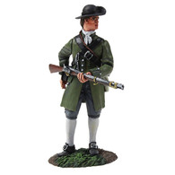 W Britain 16045 Colonial Militia Standing Reaching for Cartridge
