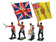 W Britain 43076 British 57th Regiment Command Set Advancing