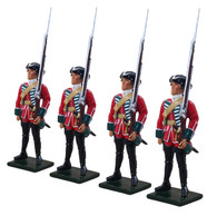 W Britain 47007 British 45th Regiment Centre Company Set 1754-1763