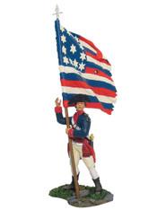 W Britain 18015 American Continental Line Flagbearer