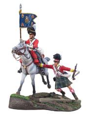 W Britain 36041 Forward Gordon's Scots Grey Guidon Bearer and Gordon Highlander