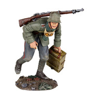 W Britain 23089 German Infantry Advancing with Ammo Box No.1 1916-1918