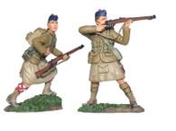 W Britain 17949 British 42nd Black Watch Highlanders Firing Set No.1