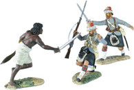 W Britain 27012 British 42nd Highlander Wounded and Mahdist Attacking Zulu War