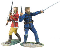 "W Britain 20139 Lt's Pope and Godwin-Austen ""Back-to-Back"" Zulu War"
