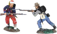 W Britain 31194 Union Infantry 114th Pennsylvania Zouaves and Confederate 18th Mississippi