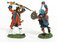 Toy Soldiers The Jacobite Rebellion 1745 Combat Set 1 JR-14 British Officer & Wounded Highlander 2 Pieces