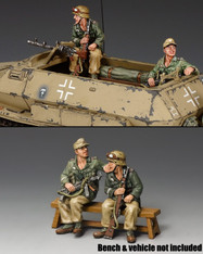 King & Country AK098 Afrika Korps Demag Passengers World War II
