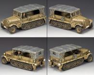 King & Country AK097 Afrika Korps Sd. Kfz.10 Demag Transport World War II