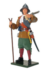 W Britain 43086 Musketeer, Virginia Militia Jamestown 1600's