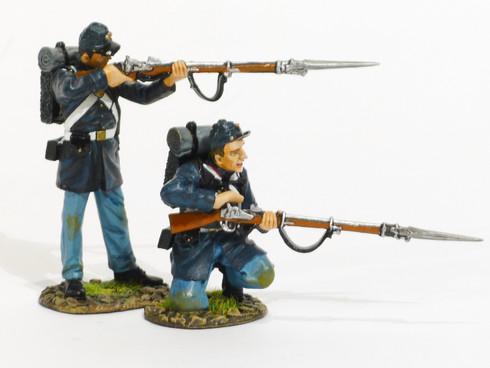 John Jenkins Designs American Civil War United States Marines, 2 Figures Loading and Firing #1 ACWM-03