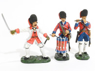 John Jenkins Designs Toy Soldiers The Indian Wars Regiment de la Reine Officer, Fifer and Drummer IFGW-3