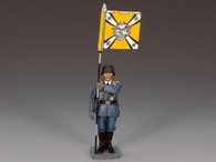 King & Country LW015 German Flagbearer Standing at Attention Luftwaffe World War II