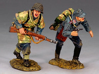 King & Country LW023 Luftwaffe Field Division Advancing Set World War II