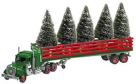 Lionel  6-37813 Christmas Green Tractor and Trailer with Trees