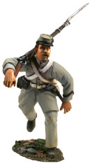 WBritain Toy  Soldier 31118 Confederate Advancing At Right Shoulder Shift In Frock Coat No. 1