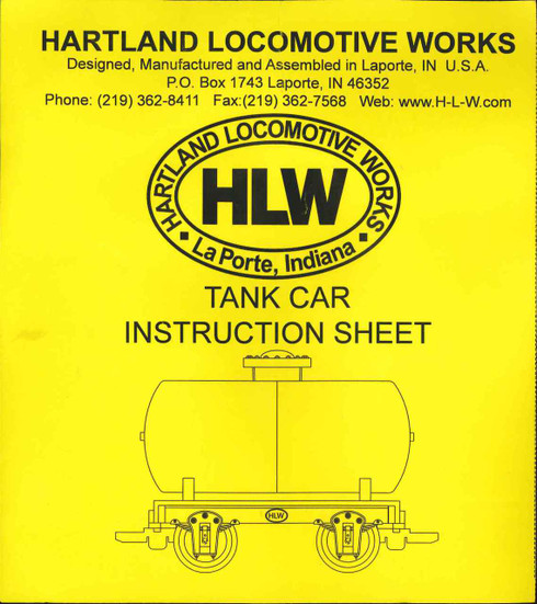 Hartland Locomotive Works 15030 Make & Take Tank Car Kit G Scale