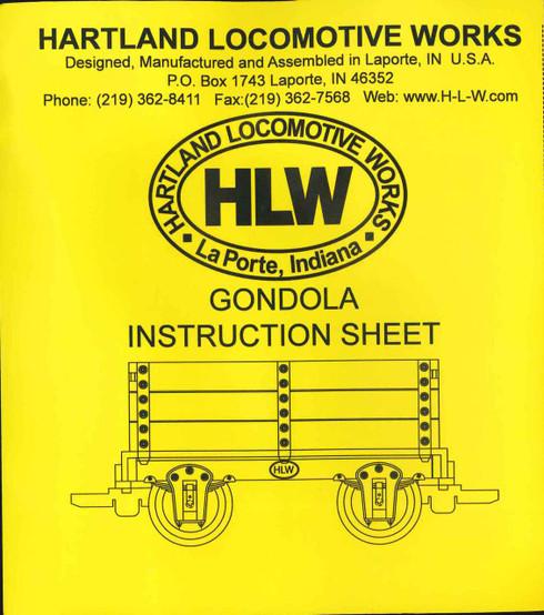 Hartland Locomotive Works 15010 Make & Take Gondola Car Kit G Scale