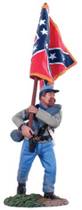 WBritain Soldier 31012 American Civil War Confederate Infantry Flagbearer Advancing - Army Of Northern Virginia Battle Flag