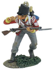 W Britain 36124 British 44th Foot Light Company NCO Blowing Whistle