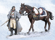 Andrea Black Hawk BH1013 Walking Cuirassier with Horse Napoleon's Retreat