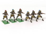 Trophy Miniatures ZS40 Firing Zulu Set with Martini Henry Rifles